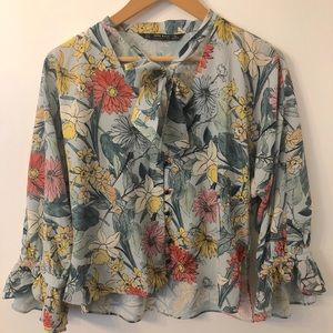 Zara Floral With Sleeves